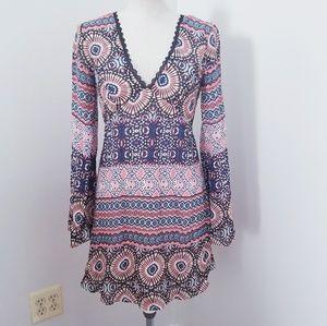ASOS Lace Back Flare Sleeve Dress
